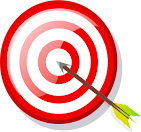Target with arrow image